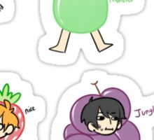 Minis: Bangtan as Fruit Sticker