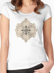 Ancient Calaabachti Filigrane Women's Fitted Scoop T-Shirt