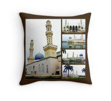 City Mosque Throw Pillow