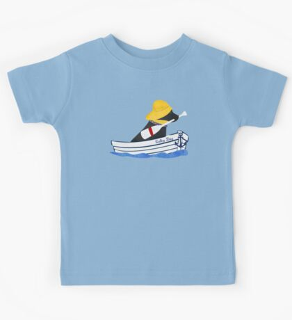 Nautical Preppy Black Lab Aboard The Salty Dog Kids Tee