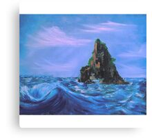 The Lonely Island and The Sea Canvas Print