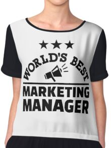 World's best marketing manager Chiffon Top