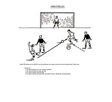Abseitsregel Offside Rule  Photographic Print