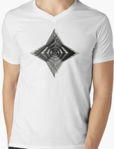 Time vs. Monolith Mens V-Neck T-Shirt