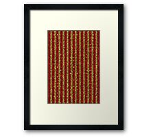 red yellow black Framed Print