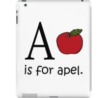 A is for Apple: Funny Alphabet iPad Case/Skin