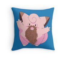 Beardemon - Clefairy Throw Pillow