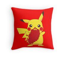 Beardemon - Pikachu Throw Pillow