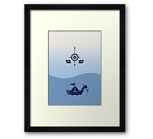 Wind Rose flanked by Snails VRS2 Framed Print