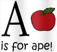 A is for Apple: Funny Alphabet Poster
