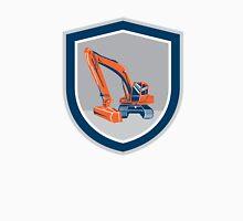 Mechanical Digger Excavator Retro Shield Unisex T-Shirt