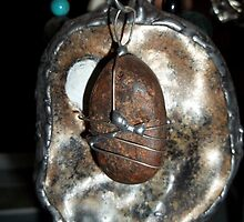 Abelone and Stone pendants by Maree  Clarkson