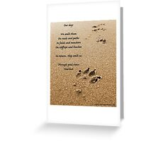 Our dogs - poem Greeting Card