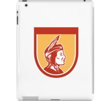 Native American Indian Chief Shield Retro iPad Case/Skin
