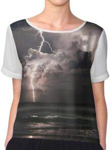 Lightning at Night Chiffon Top