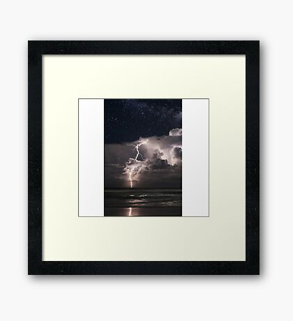 Lightning at Night Framed Print