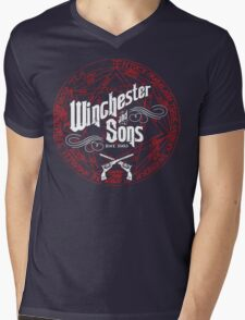 Winchester & Sons (Red Sigil) Mens V-Neck T-Shirt