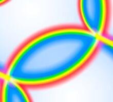 Rainbow Circles on White Sticker