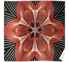 Abstract Red Star Throw Pillow Poster