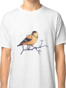 Yellow Botanical Bird  Classic T-Shirt