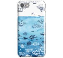 Steampunk Ships and Ocean Fishes iPhone Case/Skin