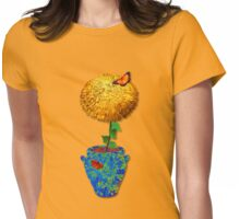 Marigolds for Tamarinde Womens Fitted T-Shirt