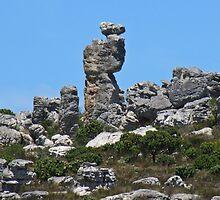 Towering rocks above Simon's Town by Lee Jones