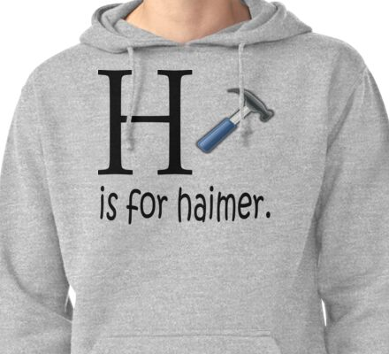 Funny Alphabet: H is for Hammer Pullover Hoodie