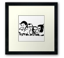 Mount Rushmore of Stand-Up Comedy Framed Print