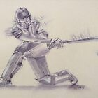 Women's Cricketer  by Paulette Farrell