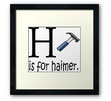 Funny Alphabet: H is for Hammer Framed Print