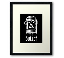 bite the bullet Framed Print