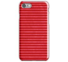 Red Pink striped case iPhone Case/Skin
