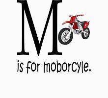 Funny Alphabet: M is for Motorcycle Men's Baseball ¾ T-Shirt