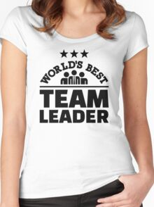 World's best team leader Women's Fitted Scoop T-Shirt