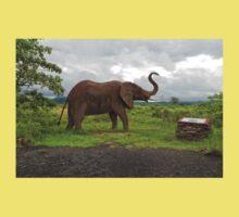 Sculpture of an Elephant Kids Tee