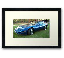 90s Corvette Framed Print