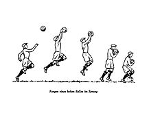 Fangen Catching a high ball vintage 50s Photographic Print