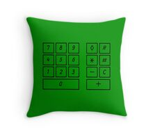 Addiermaschine Mercedes adding machine vintage 50s Throw Pillow