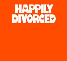 Happily Divorced Girls Pink T-shirt Womens Fitted T-Shirt