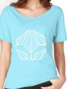 Angular Foliage (White) Women's Relaxed Fit T-Shirt
