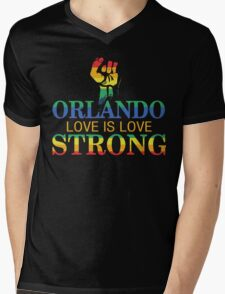 Strong Orlando, Love is Love Orlando T-Shirt Mens V-Neck T-Shirt