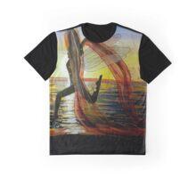 Last Rays of Fire - Mermaid Fairy Art Graphic T-Shirt