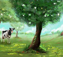 Cow / dutch scenery by Richard Eijkenbroek