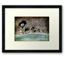 The Ugly Duckling fairytale  Framed Print