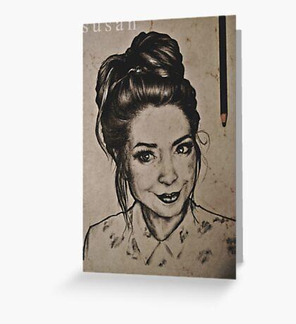 Zoella portrait Greeting Card