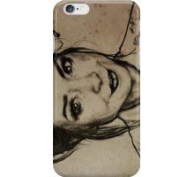 Zoella charcoal portrait. iPhone Case/Skin