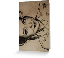 Zoella charcoal portrait. Greeting Card