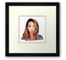 Zoe Sugg -Zoella Framed Print