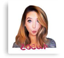 Zoe Sugg -Zoella Canvas Print